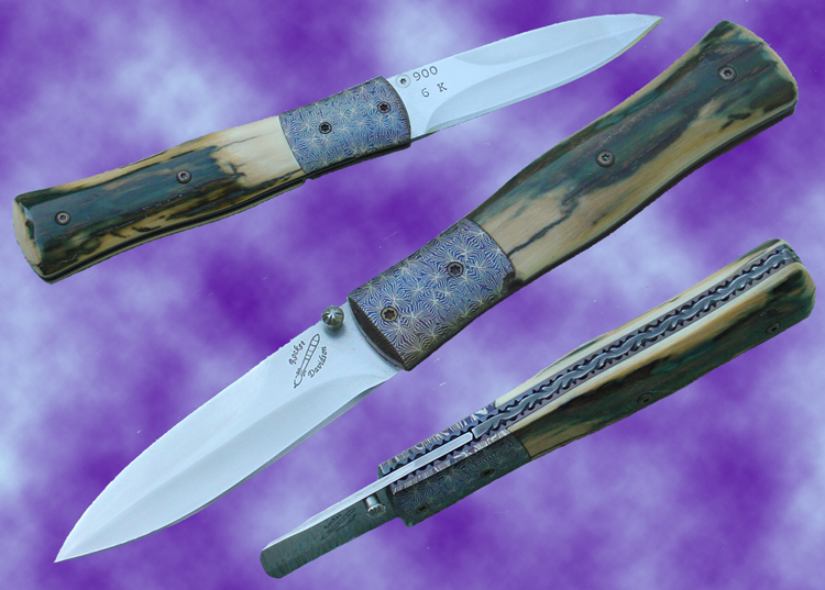 Rocket Knives Liner Locking Folding Daggers